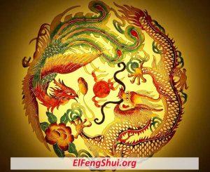 Dragón y ave Fénix Feng Shui Símbolo para El Amor y El Matrimonio